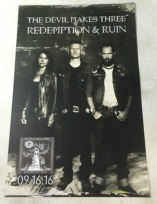 "Devil Makes Three - Redemption & Ruin 11"" x 17"" Official Promo Poster * Limited"