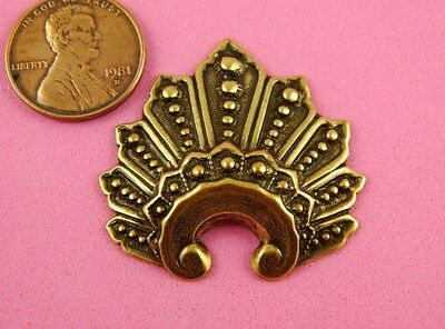 Vintage Design Antique Brass Ox Beaded Crown - 1 Pc
