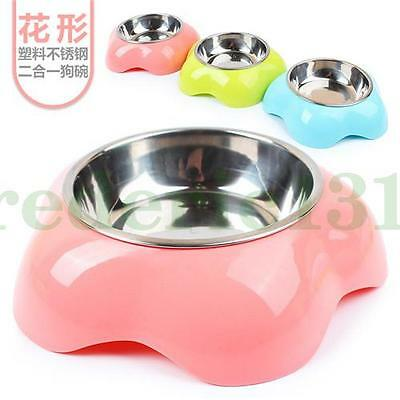 Supper Feed Water Dish Stainless steel Food Bowl Puppy Lovely Pet Travel Dog Cat