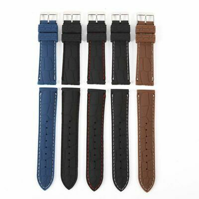 20mm 22mm New Men's Silicone Rubber Waterproof Sports Wrist Watch Band Strap