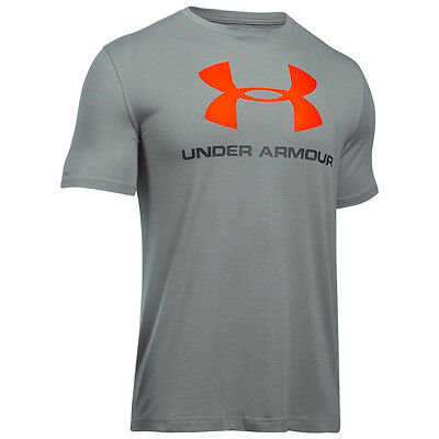 Under Armour Charged Cotton Sportstyle Logo T-Shirt true gray black 1257615-028