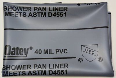 "SHOWER PAN LINER KIT 5X7 ""OATEY"" New"