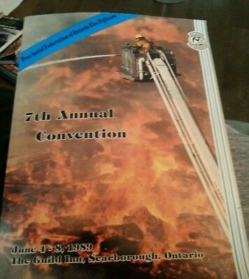 Ontario Firefighters Convention Program 1989 Canada