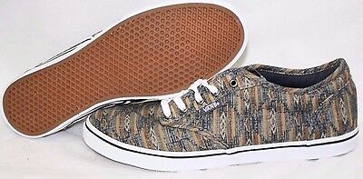 31ca3f3d49d7 NEW Womens VANS Atwood Low Tan Blue Southwest Look Canvas Sneakers Shoes