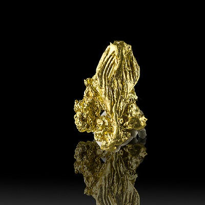 11mm .8g BrightShiny Sunshine Yellow CRYSTLLIZED GOLD NUGGET California for sale