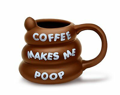 Coffee makes me poop Kack Kaffee Tasse Scherzartikel