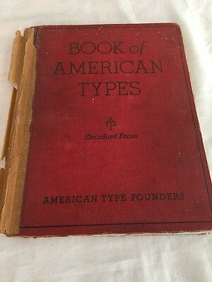 American Type Founders Company Specimen Book of American Type Styles-1934