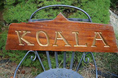 "Vintage ""KOALA"" Nautical Boat Sign Maritime Ship Plaque Measures 30"" by 10.5"" .."