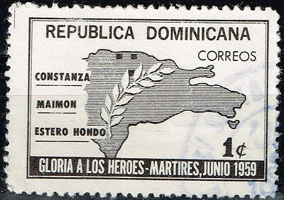 Dominicana Country Map stamp 1959