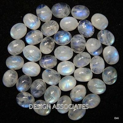 Natural White Moonstone 7X5 Mm Oval Cut Calibrated Commerical 8 Pc Set