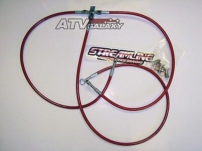 "STREAMLINE 2/"" FRONT BRAKE LINES LINE KIT ATV BLUE CAN-AM DS450 2008-2015"