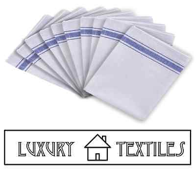 100% Cotton Catering Tea Towels Kitchen Restaurant Bar Glass Cloths Pack of 10