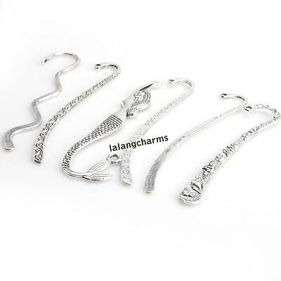 12pcs Hot Accessories Mixed Antique Silver Bookmarks For Beading Handmade DIY C