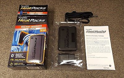 ThermaCell Heat Packs Hand/Pocket Warmer BLUETOOTH Rechargeable Unit - PAK-BL