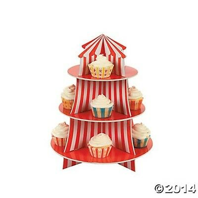 CUPCAKE HOLDER Carnival Circus Big Top Tent Decoration Party Display Stand