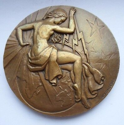 "FRENCH NUDE WOMAN 3"" ART DECO MEDAL by RAY PELLETIER"