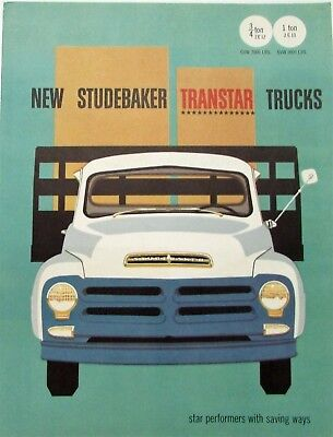 1956 Studebaker Transtar  3/4 & 1 Ton Trucks 2E12 & 2E13 Model Sales Folder Orig