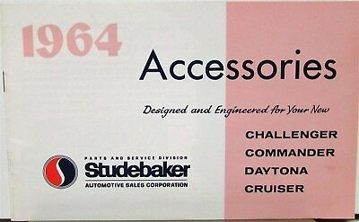 1964 Studebaker Accessories Challenger Commander Daytona Cruiser Orig Brochure