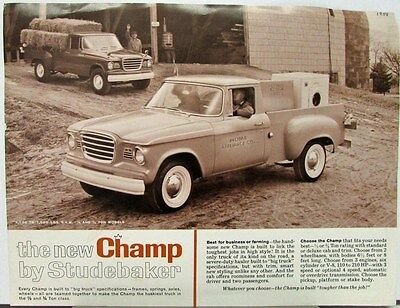 1960 1961 Studebaker Champ Truck Series 6E5 6E7 6E10 6E12 Data Sheet Original