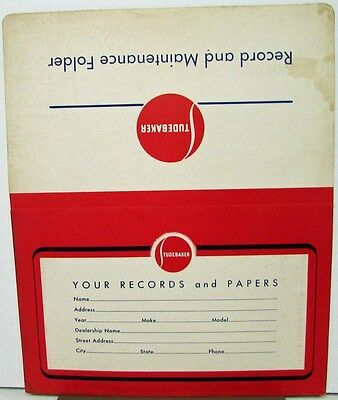 1950 To 1957 Studebaker Owners Manual Envelope Original Maintenance Schedule