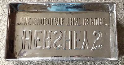 Vintage Hershey's Chocolate 5 lb. Candy Stainless Steel mould pan.