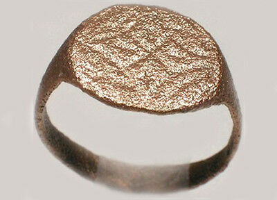Roman Province Thrace (Bulgaria) Intricately Engraved Starburst Ring AD300 Sz6