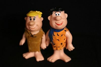 The Flintstones 1970 Dakin FRED & BARNEY RUBBLE Toy Figures