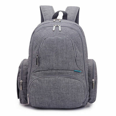 15'' Fashion Baby Diaper Nappy Backpack Bag Waterproof Mummy Changing Backpack