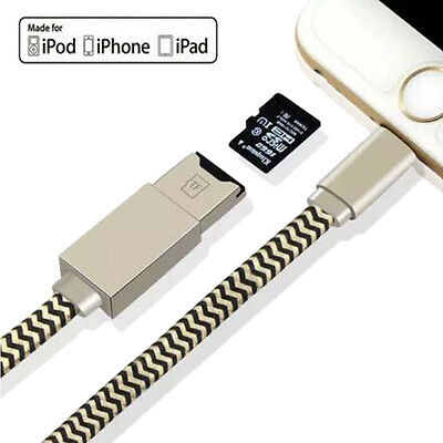USB i-Flash Drive Data Cable Memory TF MicroSD Card Reader OTG for iPhone  6s 7