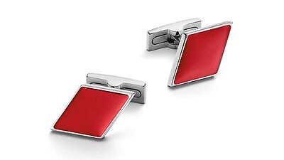 Original Audi Cufflinks red Diamond Audi Sport Logo Cufflinks