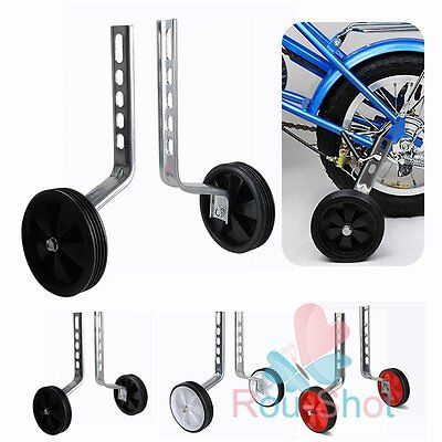 2PCS 12-20'' Kids Stabilisers Training Wheels For Children Bicycle Cycling 【UK】