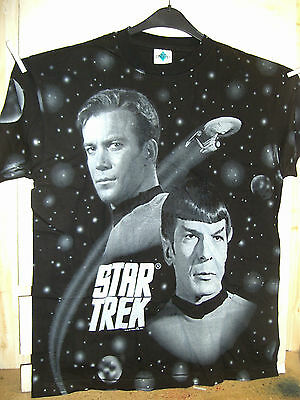 Vintage T-Shirt: Star Trek: Kirk and Spock (full size print) (XL) (USA, 1994)