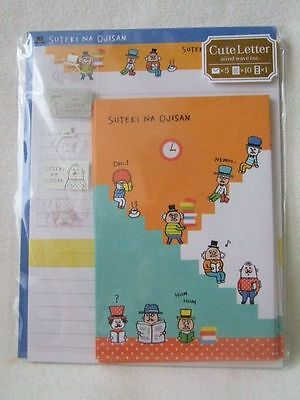 Mind Wave Japan Sutekina Ojisan  letter set NEW