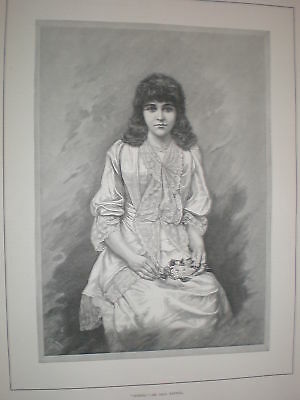 Spring 1892 Paul Heydel young lady print
