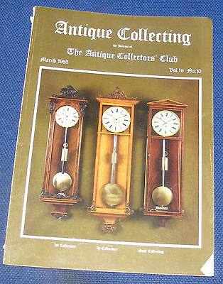 Antique Collecting March 1985 - Greek Vase/islamic Candlesticks/rolex
