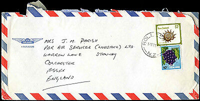 New Zealand 1980's Commercial Airmail Cover To UK #C37739