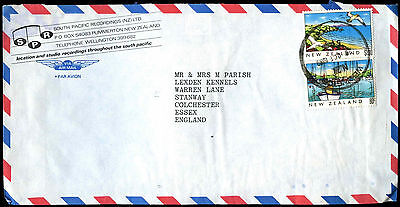 New Zealand 1989 Commercial Airmail Cover To UK #C37751