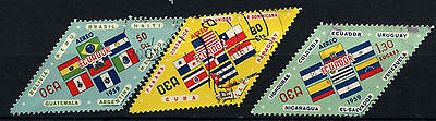 Ecuador 1959 SG#1144-6 American States, Flags Used Set #D34518