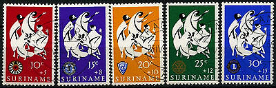 Suriname 1966 SG#589-593 Easter Charity Cto Used Set #D34410