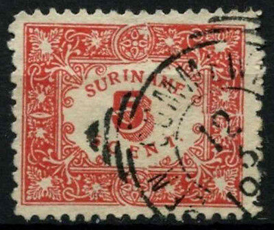 Suriname 1909 SG#105, 5c Red Used #D34491