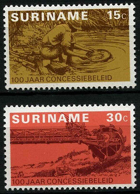 Suriname 1975 SG#787-8 Prospecting Concession Policy MNH Set #D34458