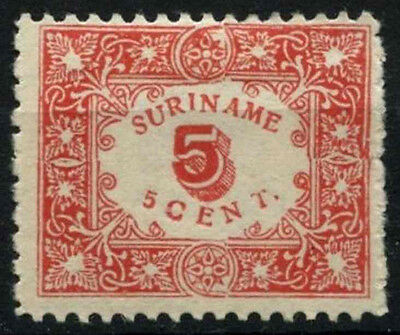 Suriname 1909 SG#105, 5c Red Mint No Gum As Issued, MH #D34492