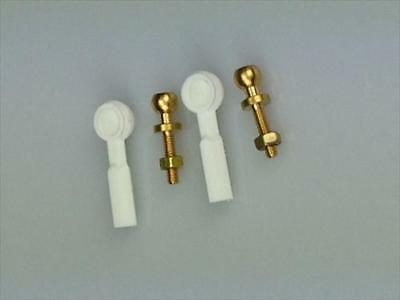 White Ball Joint M2 (Pk2) For Rc Model Planes