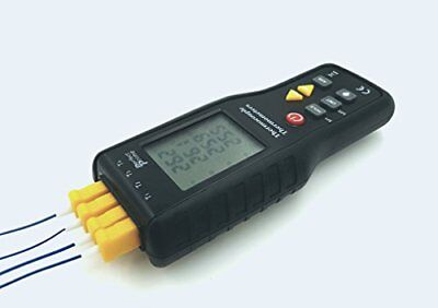 Perfect-Prime TC41, 4-Channel K-Type Digital Thermometer Thermocouple Sensor