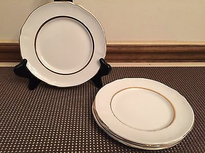 """Alfred Meakin """"PERFECTION GOLD"""" ~ Set of 4 ~ Bread Plates ~ 6 1/2"""""""