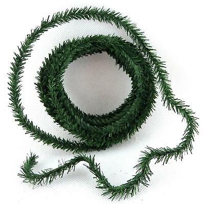 Dolls House Green Pine Leaf Garland Mini Christmas Roping Decoration 10' long