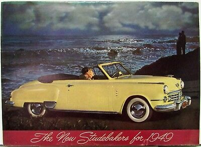 1949 Studebaker Champion Commander Land Cruiser Brochure Folder With Specs Orig
