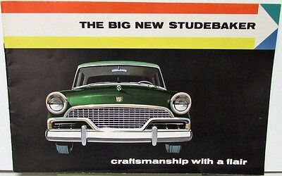 1956 Studebaker Original Sales Brochure Hawk Wagon President Commander Champion