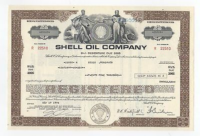 Shell Oil Company Bond w/vignette of man & woman