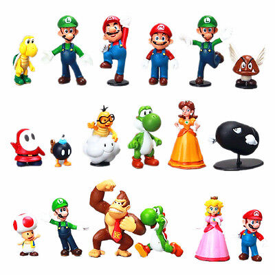 18pcs Cute Game Super Mario Action Figures Doll Kids Boy Girl Toy Set Xmas Gift